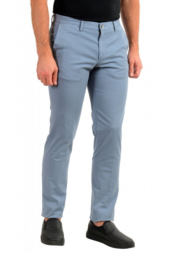 "Hugo Boss Men's ""Barlow-D"" Blue Flat Front Casual Pants: Picture 2"