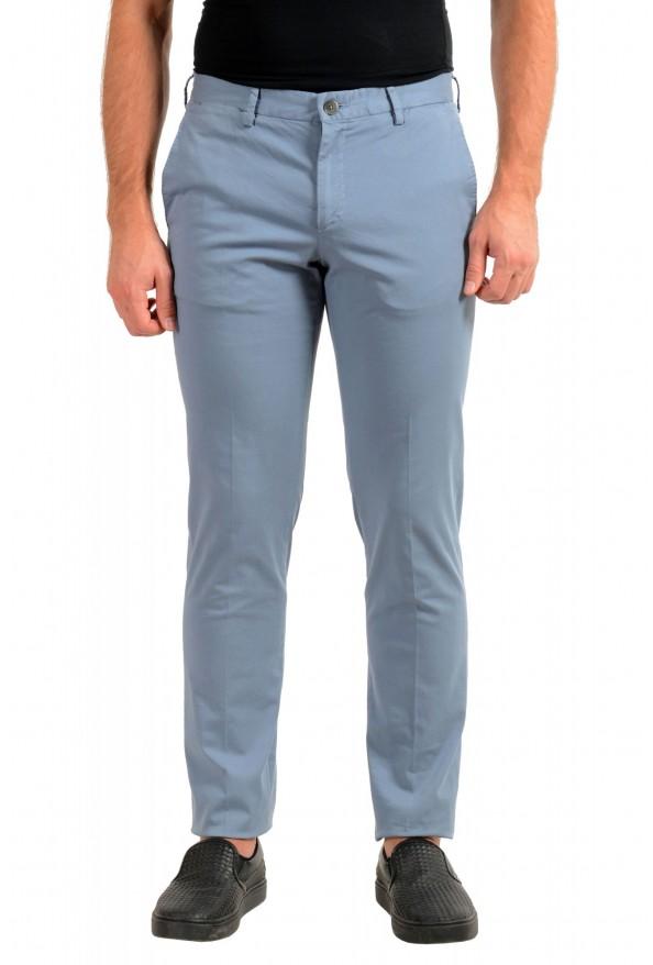 "Hugo Boss Men's ""Barlow-D"" Blue Flat Front Casual Pants"