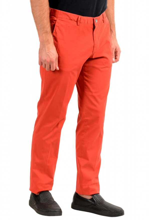 """Hugo Boss Men's """"Barlow-D"""" Coral Red Flat Front Casual Pants: Picture 2"""