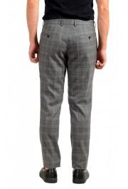 "Hugo Boss Men's ""Novan6/Be"" Slim Fit Gray 100% Wool Plaid Flat Front Dress Pants: Picture 3"