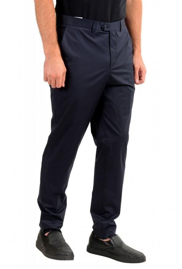 "Hugo Boss Men's ""Hening182"" Navy Blue Flat Front Dress Pants: Picture 2"