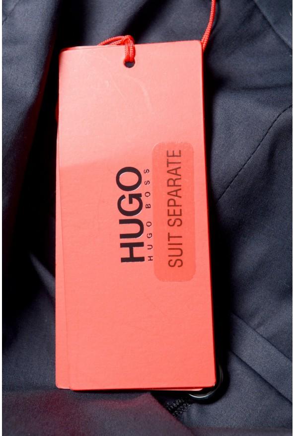 "Hugo Boss Men's ""Hening182"" Navy Blue Flat Front Dress Pants: Picture 4"