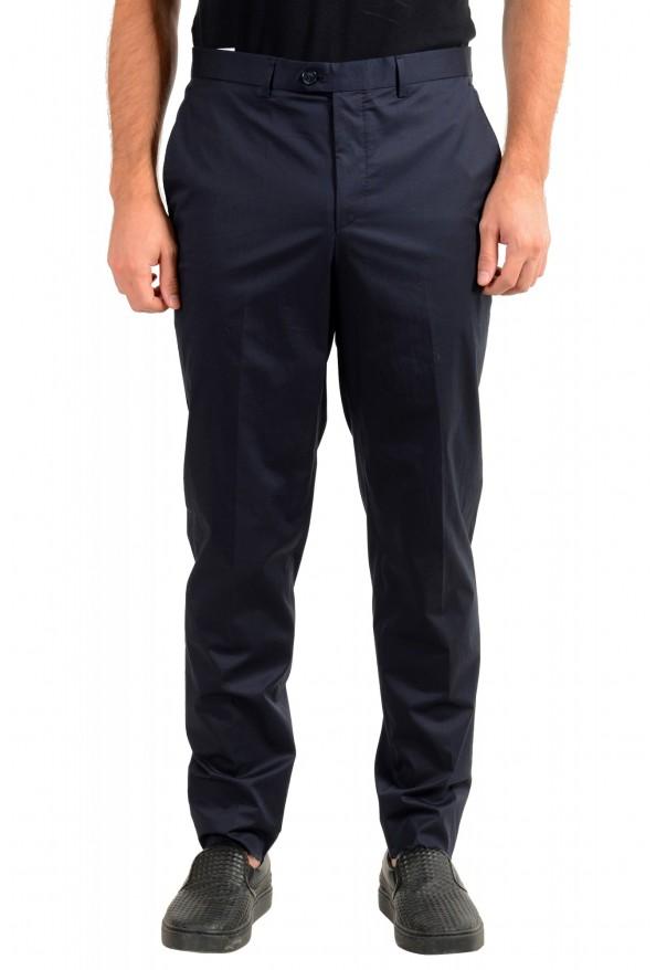 """Hugo Boss Men's """"Hening182"""" Navy Blue Flat Front Dress Pants"""