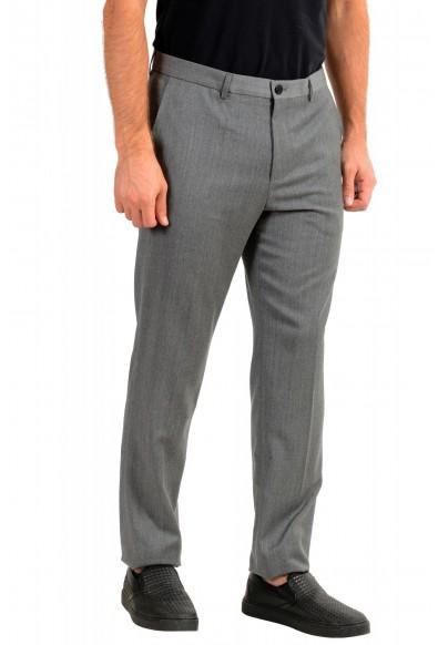 "Hugo Boss Men's ""Helo192"" Gray 100% Wool Flat Front Dress Pants: Picture 2"