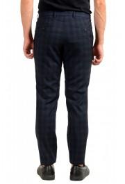 "Hugo Boss Men's ""Getlin182"" Blue Plaid 100% Wool Flat Front Dress Pants: Picture 3"