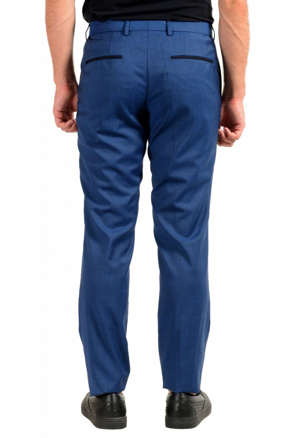 "Hugo Boss Men's ""Gido"" Blue 100% Wool Flat Front Dress Pants: Picture 3"