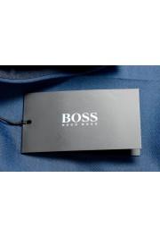 "Hugo Boss Men's ""Gido"" Blue 100% Wool Flat Front Dress Pants: Picture 4"