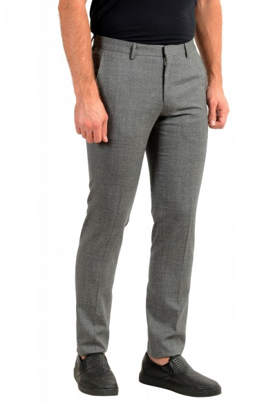 "Hugo Boss Men's ""Ben2"" Slim Fit Gray 100% Wool Flat Front Dress Pants: Picture 2"