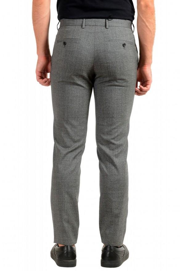 "Hugo Boss Men's ""Ben2"" Slim Fit Gray 100% Wool Flat Front Dress Pants: Picture 3"