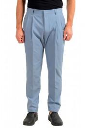 """Hugo Boss Men's """"Orville"""" Light Blue Pleated Pants"""