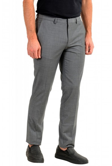 "Hugo Boss Men's ""Hesten194"" Gray Plaid Wool Dress Pants: Picture 2"