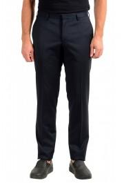 "Hugo Boss Men's ""Getlin182"" Slim Fit Striped 100% Wool Dress Pants"