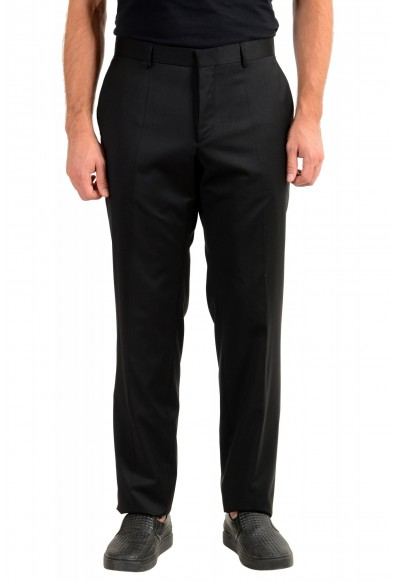 "Hugo Boss Men's ""T-Glover1 GSU"" Black 100% Wool Dress Pants"
