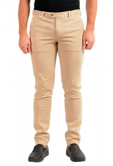 "Hugo Boss Men's ""Kaito1-Der-W2"" Beige Flat Front Casual Pants"