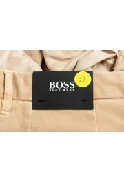 """Hugo Boss Men's """"Kaito1-Der-W2"""" Beige Flat Front Casual Pants: Picture 4"""