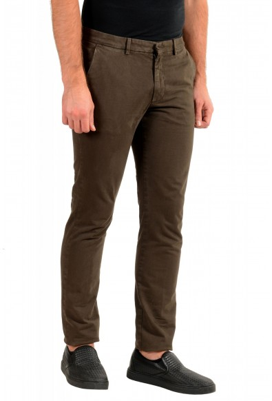 """Hugo Boss Men's """"Kaito1"""" Washed Brown Flat Front Casual Pants: Picture 2"""
