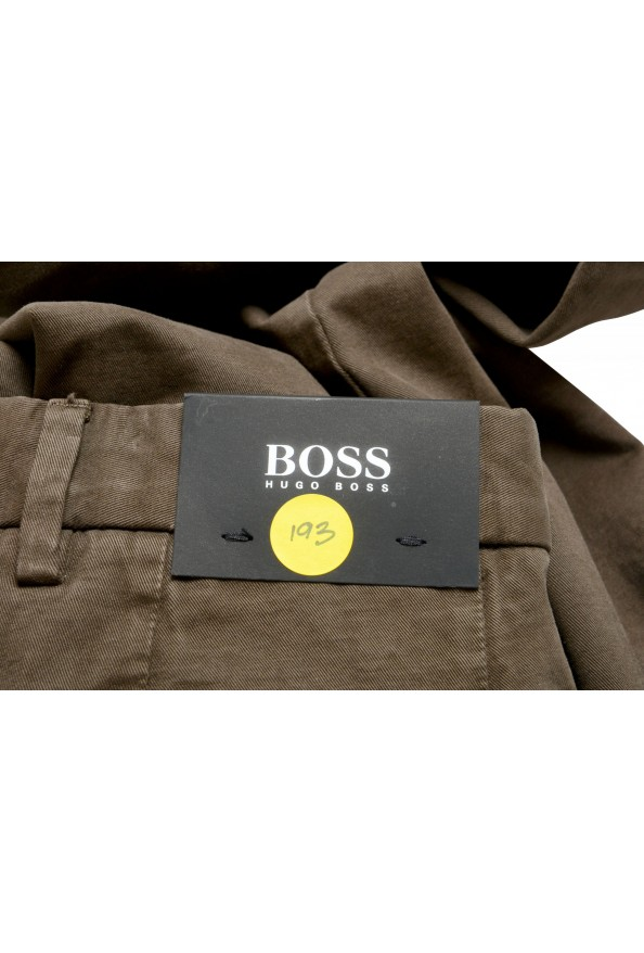 """Hugo Boss Men's """"Kaito1"""" Washed Brown Flat Front Casual Pants: Picture 4"""