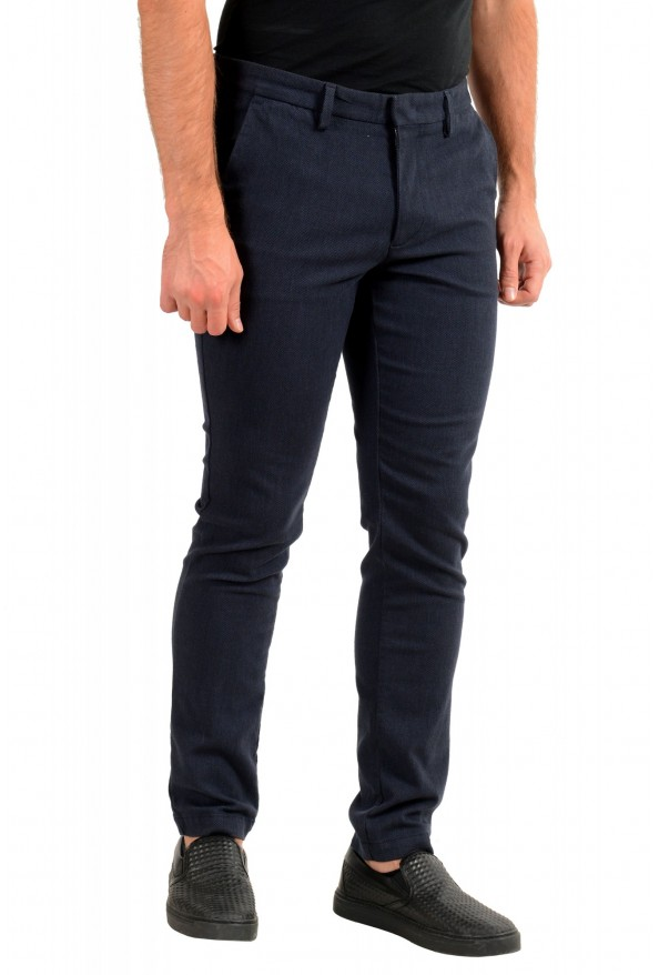 """Hugo Boss Men's """"Kaito1"""" Blue Stretch Flat Front Casual Pants : Picture 2"""