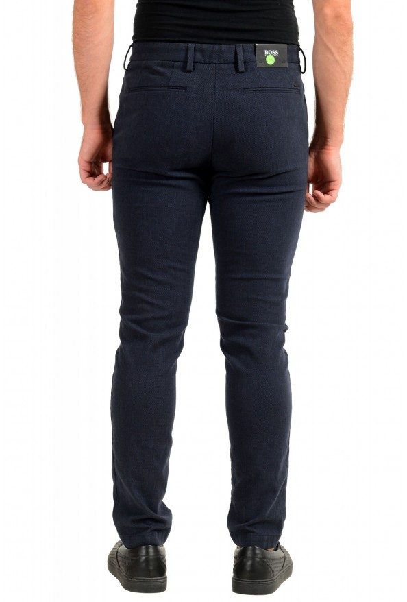 """Hugo Boss Men's """"Kaito1"""" Blue Stretch Flat Front Casual Pants : Picture 3"""