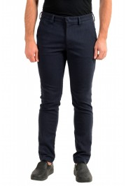 """Hugo Boss Men's """"Kaito1"""" Blue Stretch Flat Front Casual Pants"""