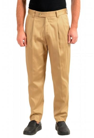 "Hugo Boss Men's ""Pillip1"" Beige ""Fashion Fit"" Pleated Casual Pants"