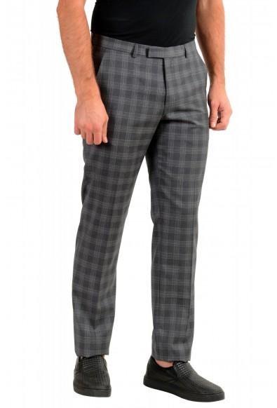 "Hugo Boss Men's ""Simmons182"" Regular Fit Plaid 100% Wool Flat Front Dress Pants: Picture 2"