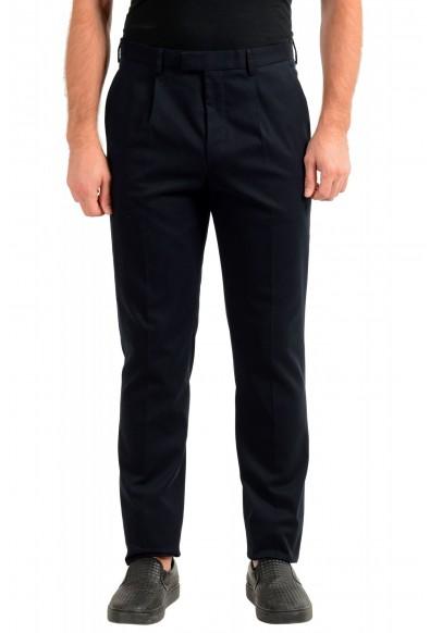 "Hugo Boss Men's ""T-Borden"" Striped Blue Pleated Casual Pants"