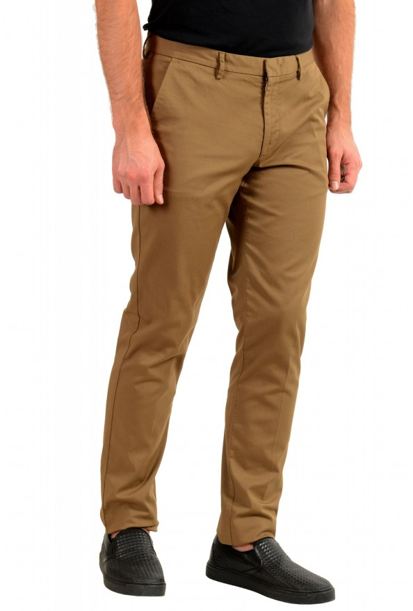 """Hugo Boss Men's """"Kaito1"""" Brown Flat Front Casual Pants: Picture 2"""