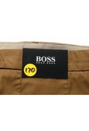 """Hugo Boss Men's """"Kaito1"""" Brown Flat Front Casual Pants: Picture 4"""