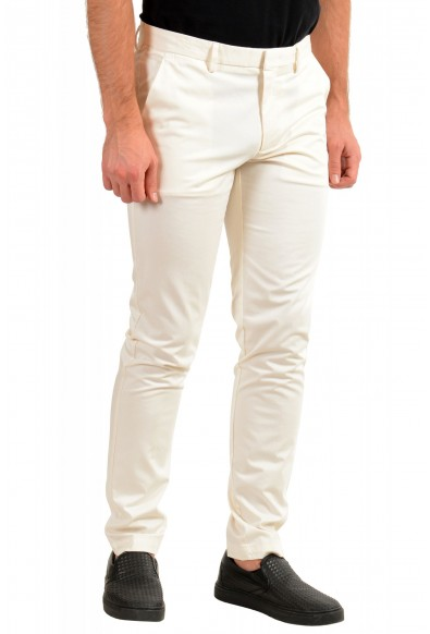 """Hugo Boss Men's """"Kaito1"""" Off White Stretch Flat Front Casual Pants: Picture 2"""
