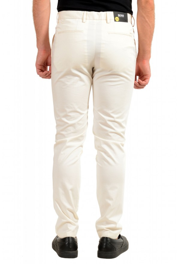 """Hugo Boss Men's """"Kaito1"""" Off White Stretch Flat Front Casual Pants: Picture 3"""