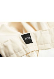 """Hugo Boss Men's """"Kaito1"""" Off White Stretch Flat Front Casual Pants: Picture 4"""