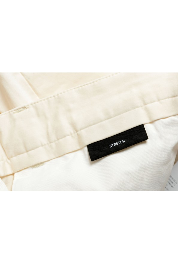 """Hugo Boss Men's """"Kaito1"""" Off White Stretch Flat Front Casual Pants: Picture 5"""