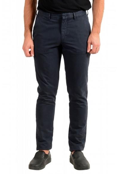 "Hugo Boss Men's ""Kaito1"" Washed Blue Flat Front Casual Pants"