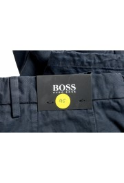 """Hugo Boss Men's """"Kaito1"""" Washed Blue Flat Front Casual Pants: Picture 4"""