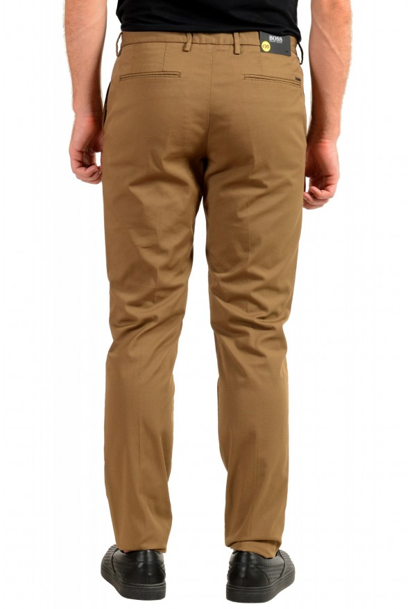"""Hugo Boss Men's """"Kaito1"""" Brown Flat Front Casual Pants: Picture 3"""