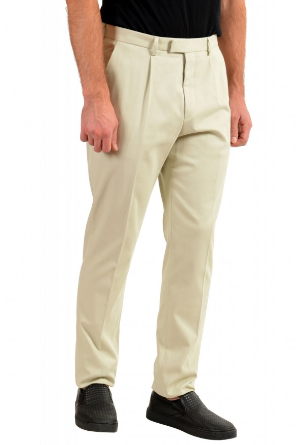"Hugo Boss Men's ""T-Borden"" Tailored Beige Casual Pants: Picture 2"
