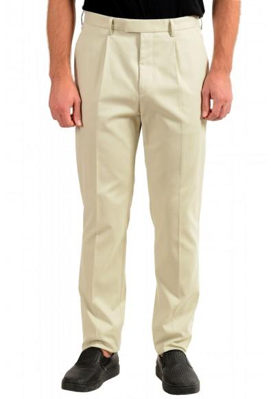 """Hugo Boss Men's """"T-Borden"""" Tailored Beige Casual Pants"""