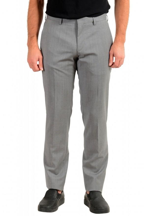 "Hugo Boss Men's ""Genesis2"" Gray Slim Fit 100% Wool Dress Pants"