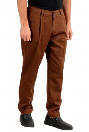 "Hugo Boss Men's ""Kirio-Pleats-Det"" Brown Striped Casual Pants : Picture 2"