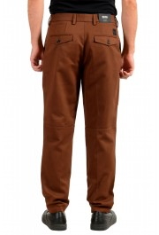 "Hugo Boss Men's ""Kirio-Pleats-Det"" Brown Striped Casual Pants : Picture 3"