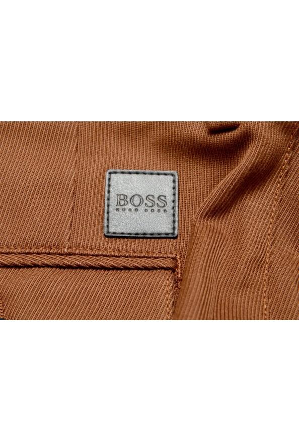 "Hugo Boss Men's ""Kirio-Pleats-Det"" Brown Striped Casual Pants : Picture 5"