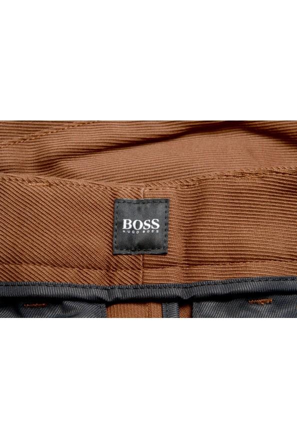 "Hugo Boss Men's ""Kirio-Pleats-Det"" Brown Striped Casual Pants : Picture 6"
