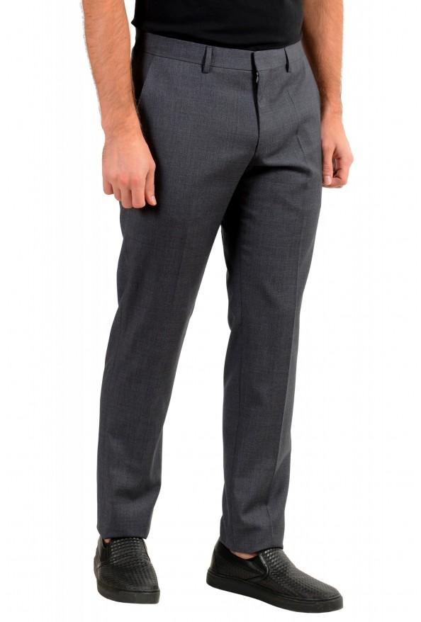 "Hugo Boss Men's ""Genesis4"" Slim FGit Gray 100% Wool Flat Front Dress Pants: Picture 2"