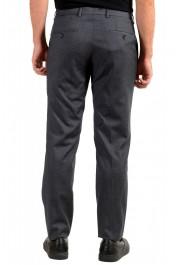 "Hugo Boss Men's ""Genesis4"" Slim FGit Gray 100% Wool Flat Front Dress Pants: Picture 3"