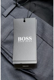 "Hugo Boss Men's ""Genesis4"" Slim FGit Gray 100% Wool Flat Front Dress Pants: Picture 4"