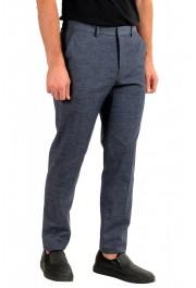 """Hugo Boss Men's """"Pirko2"""" Blue Wool Flat Front Dress Pants: Picture 2"""