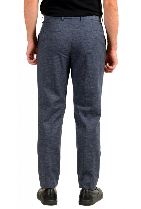 """Hugo Boss Men's """"Pirko2"""" Blue Wool Flat Front Dress Pants: Picture 3"""