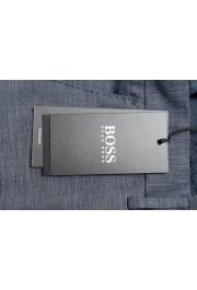 """Hugo Boss Men's """"Pirko2"""" Blue Wool Flat Front Dress Pants: Picture 4"""