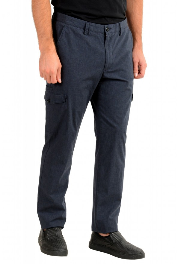 """Hugo Boss Men's """"Kailo-W"""" Blue Flat Front Cargo Casual Pants: Picture 2"""
